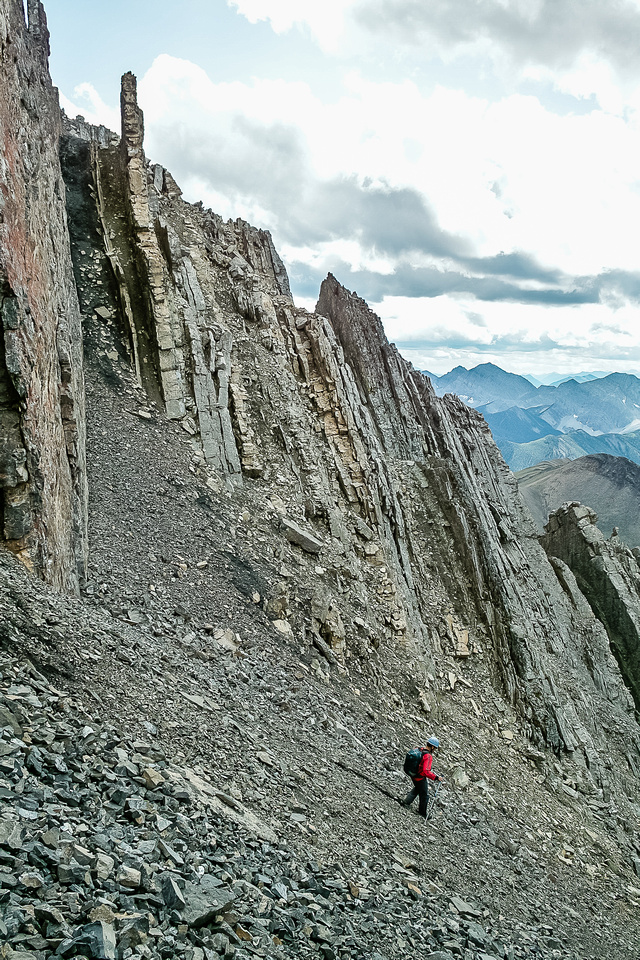 We'd get to a nice scree run and then get cliffed out!