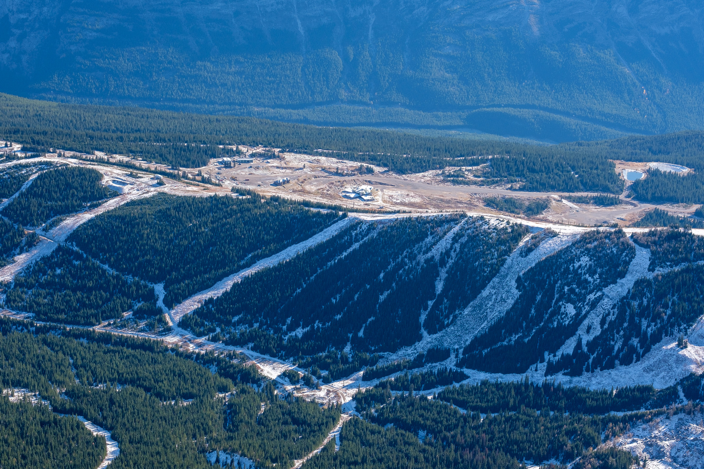 View to the old Fortress ski resort.