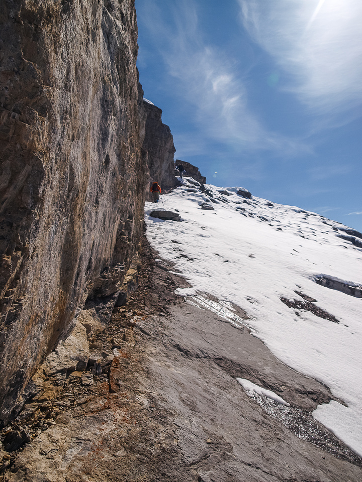 Good thing there wasn't more ice here or we may have regretted not bringing the crampons!