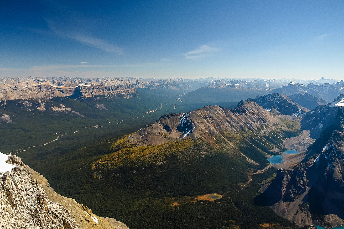 A great view of Panorama Ridge and Consolation Lakes.