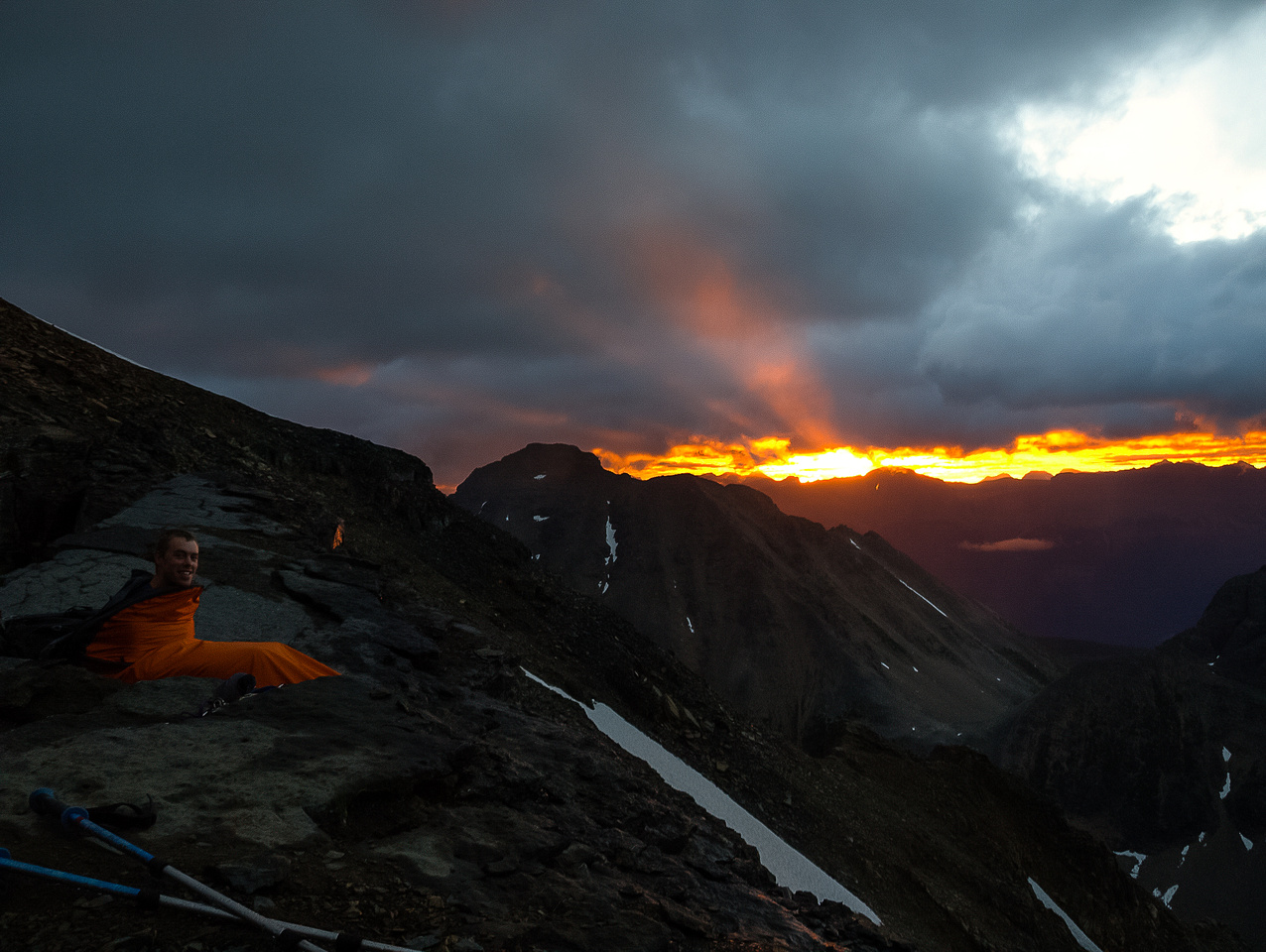 An incredible sunrise from our bivy.