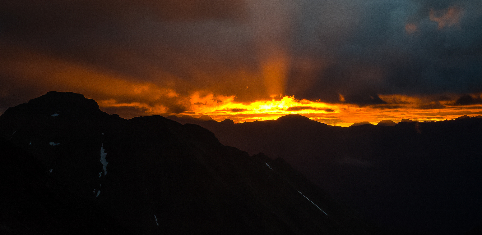 An amazing sunrise from our bivy.