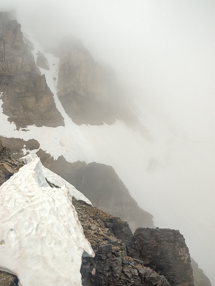 We thought about traversing the glacier and taking the snow but...
