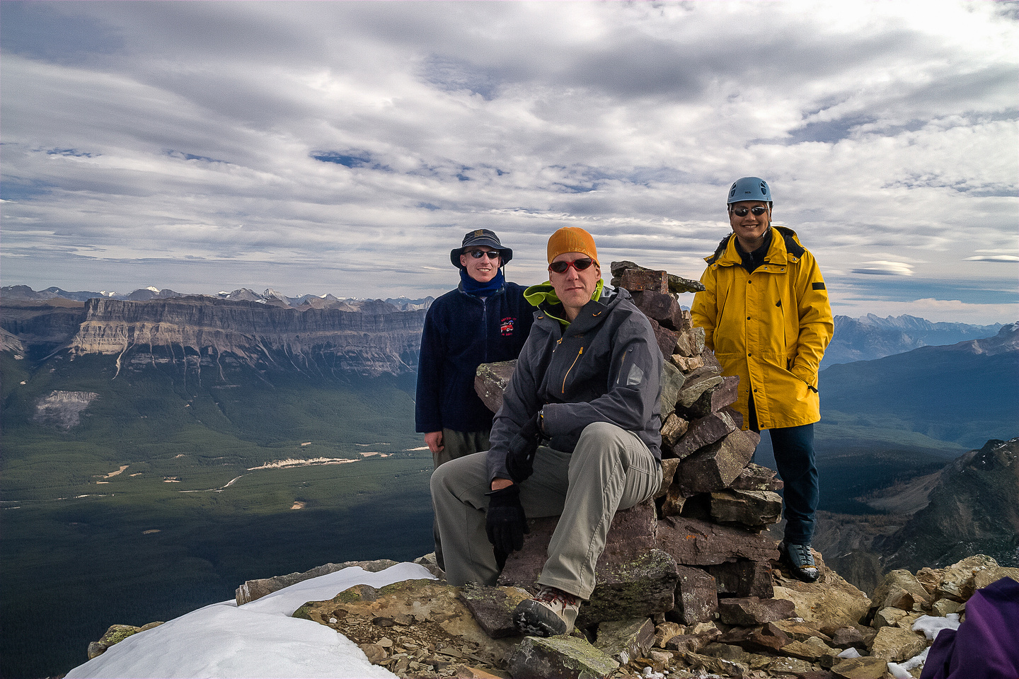Calvin, Vern and Sonny on the summit.