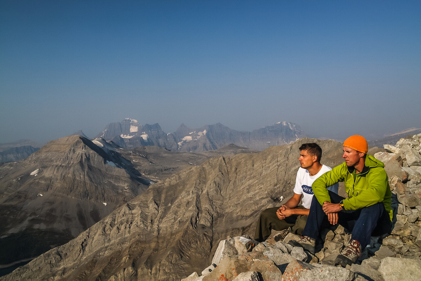 Jon and Vern on the summit of Mount Putnik.