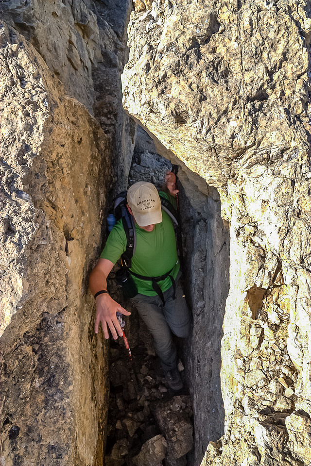 Be careful if you choose to angle climber's right too quickly as you will soon be free climbing rather than scrambling.