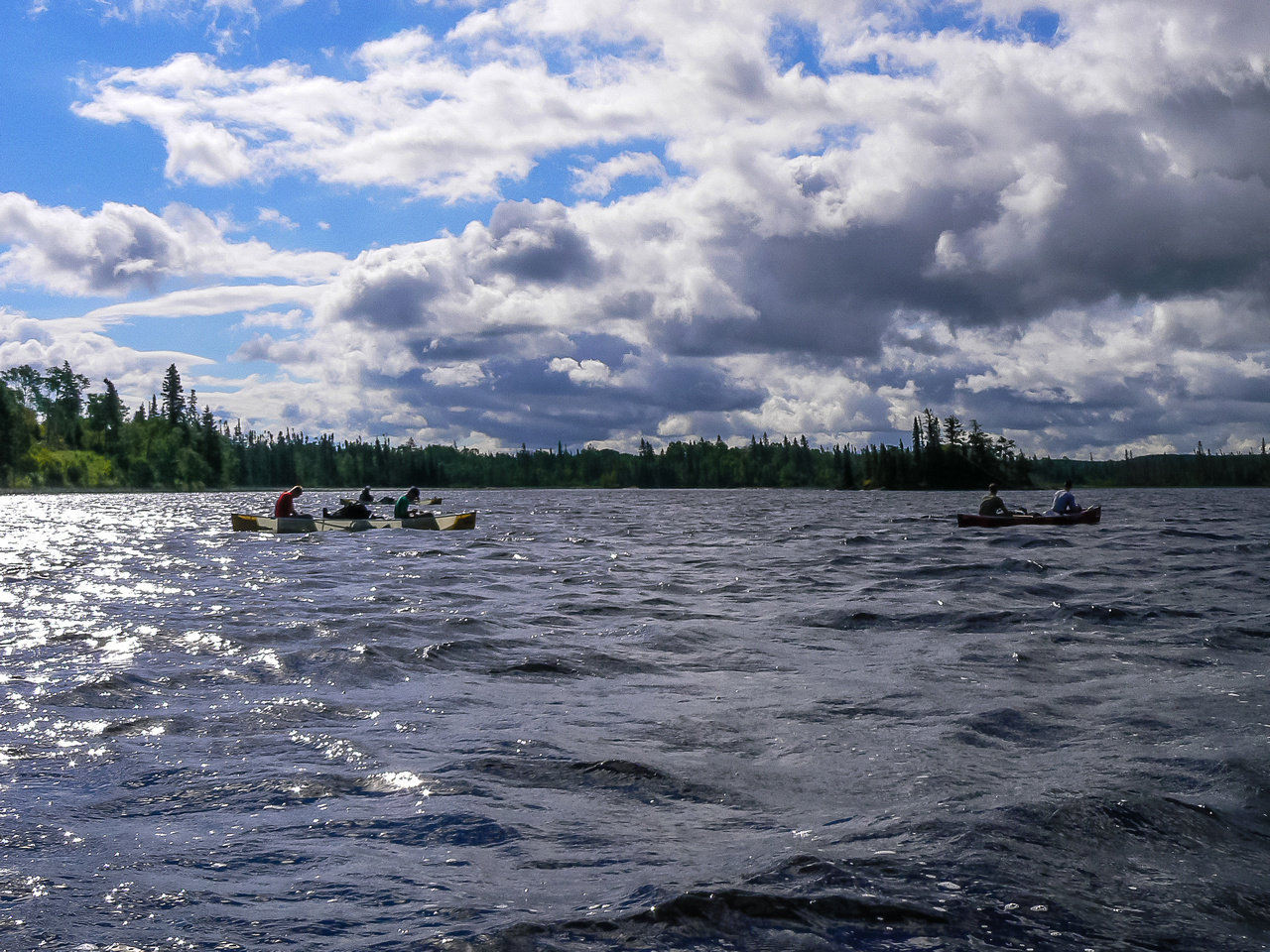A lovely day drifting out of Snowshoe Lake.