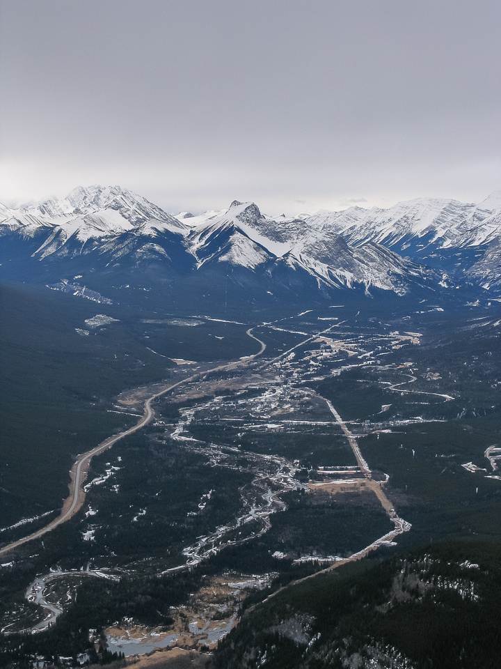 Views over Kananaskis Village.