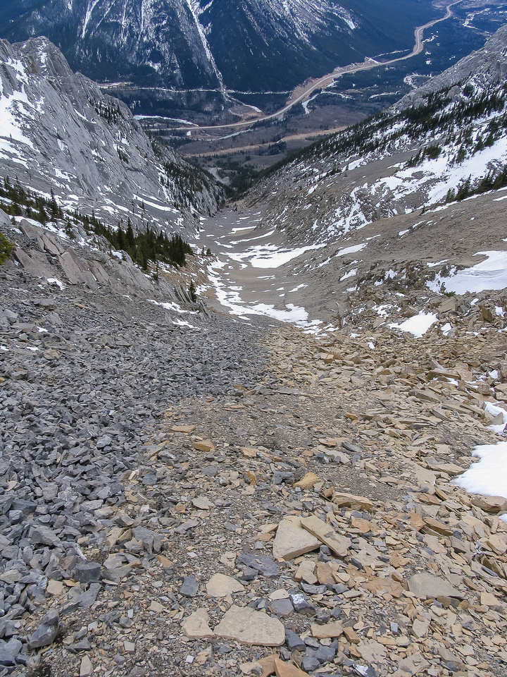 The gully is fast travel for the most part.