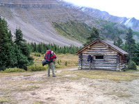 "The ""half way hut"" is a day use cabin only - no overnight stays allowed!"