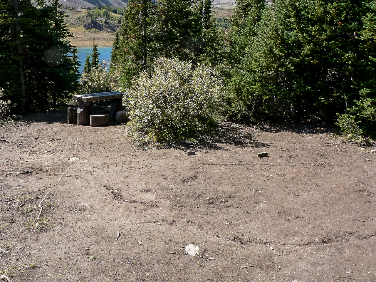 The Baker Lake campground.