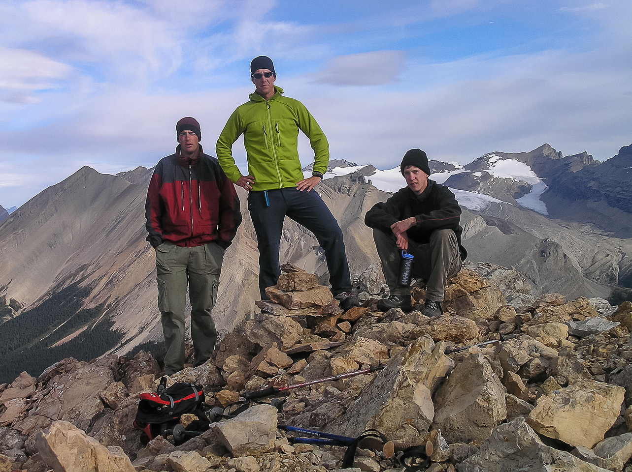 Jon, Vern and Rod on Oyster Peak.