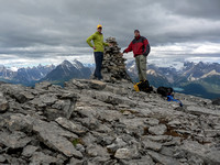Vern and Jon on the summit of Redoubt.