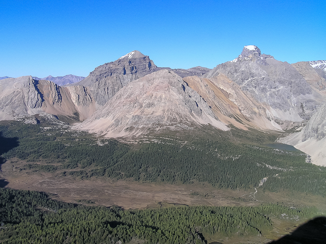 The great view of Douglas (L) and St. Bride (R) is what makes Brachipod worth an ascent.