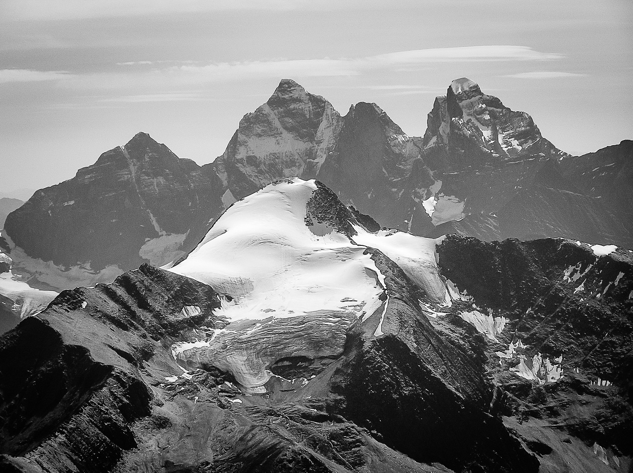 L to R, Sentry, Goodsir South, Center, North with Mount Owen in the fg.