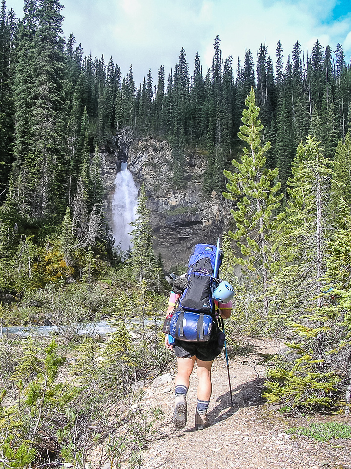 An early morning hike along the Yoho River.