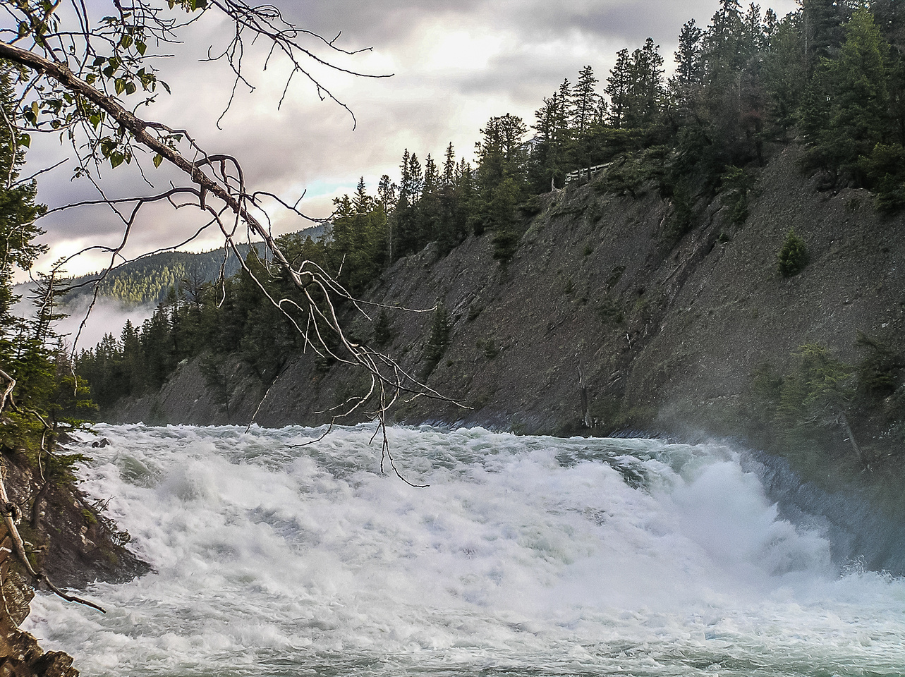 Bow Falls as I leave early in the morning.