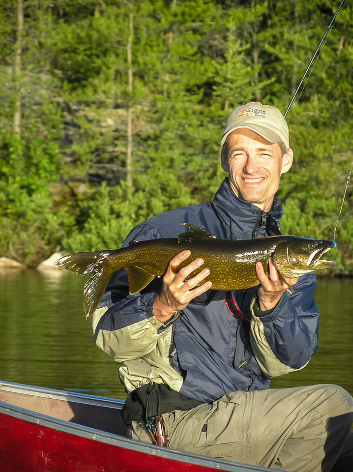 We got up early on Thursday morning to give Bill a shot at Lake Trout too. He was delighted to catch his first one!