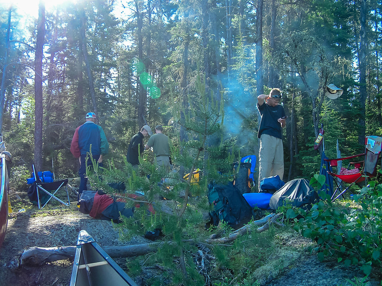 Packing up camp Thursday morning in Mather Lake.