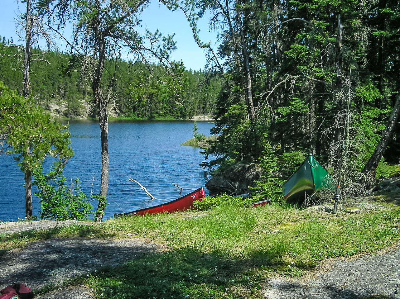 Our Haggart Lake camp site.