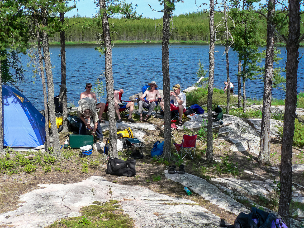 We arrive at our final camp in Jestor Lake for the trip in perfect weather / conditions again.