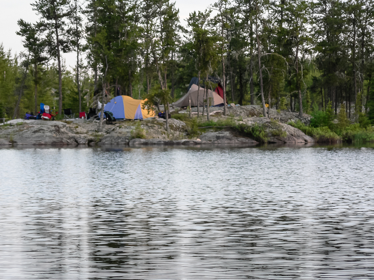 Our camp site on Jestor Lake.