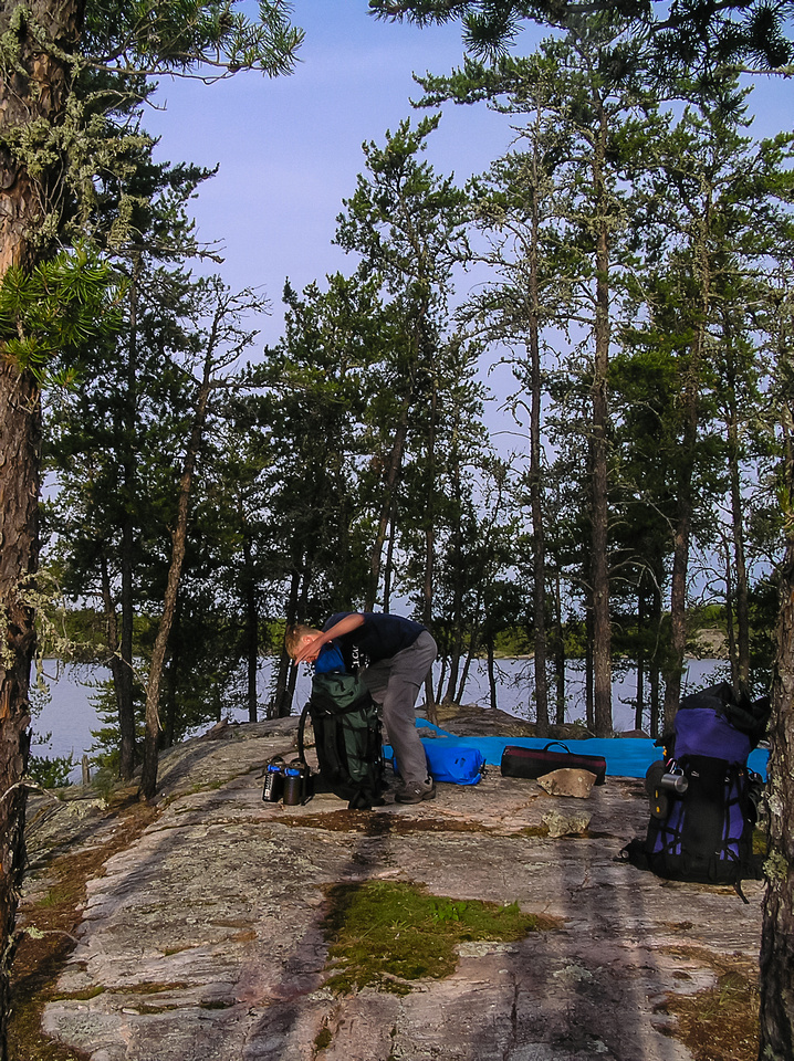 Packing up our Jestor Lake camp.