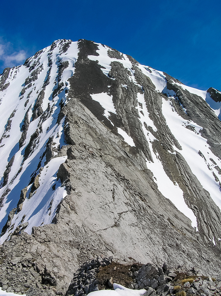 Looking back up the west ridge.
