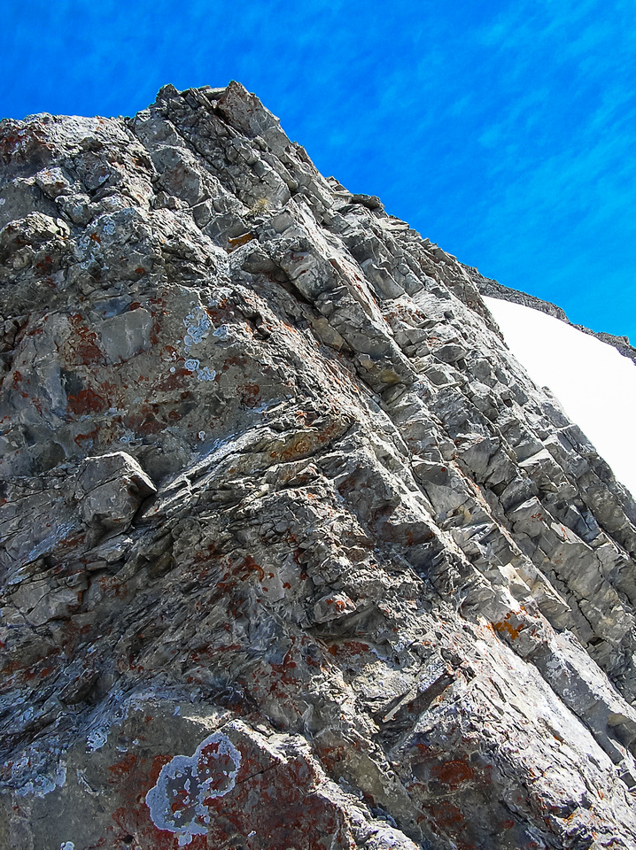 Steep and fairly loose but lots of holds. Just don't pull on them...