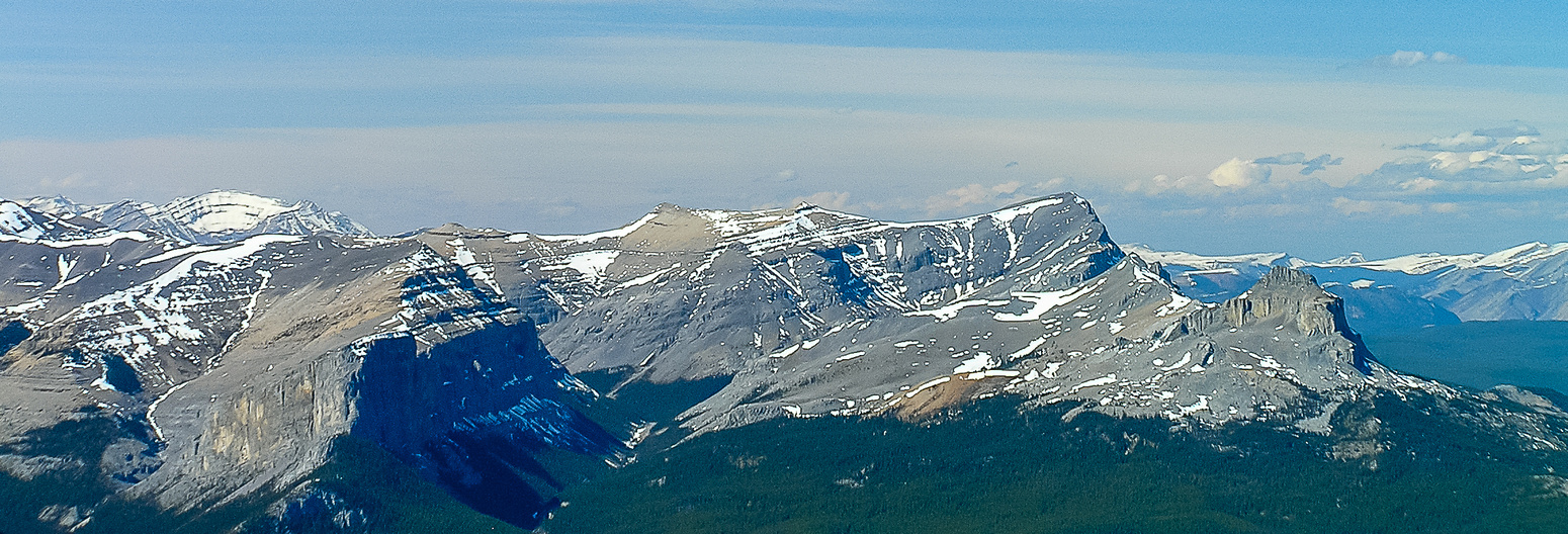 Incredible views of Ghost Peak (R) and even Barrier Mountain (L).