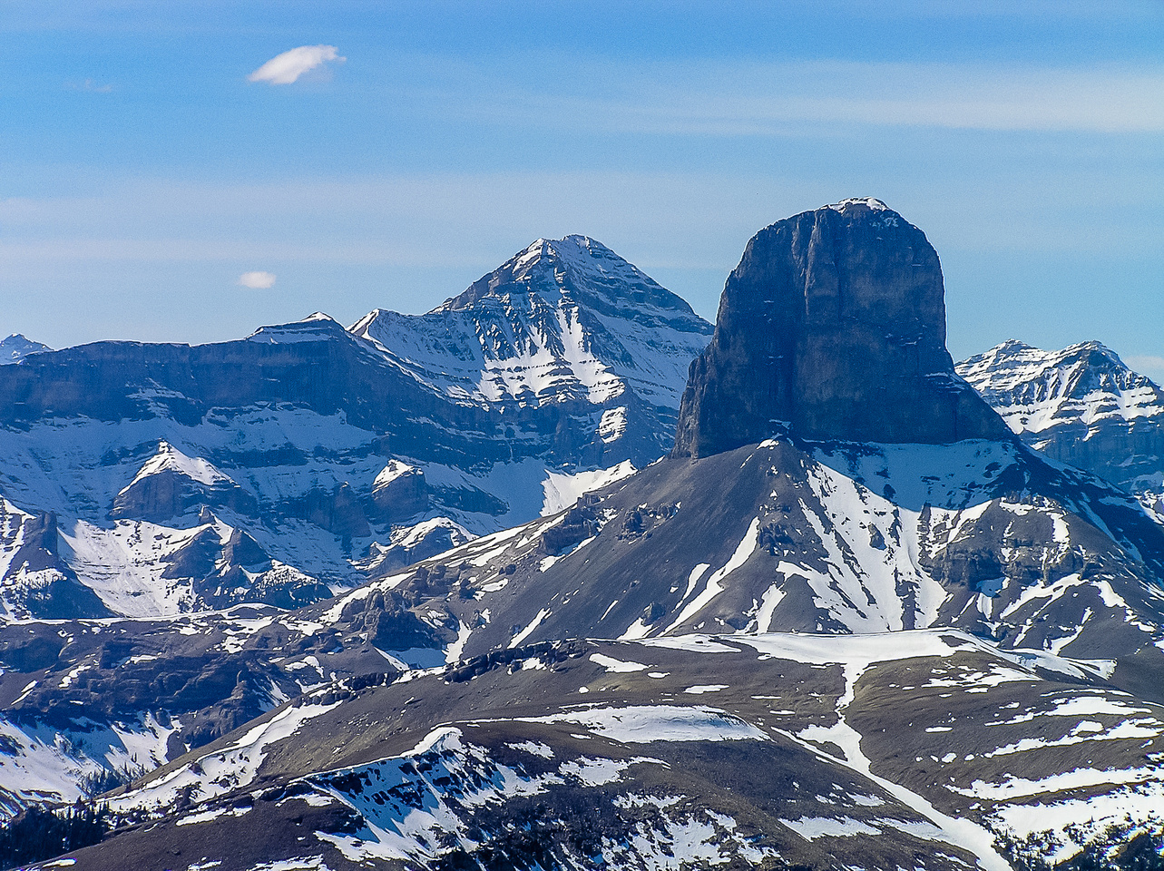 Devils Head from the summit of Black Rock Mountain. I would finally climb that impressive peak 7 years later in 2012.