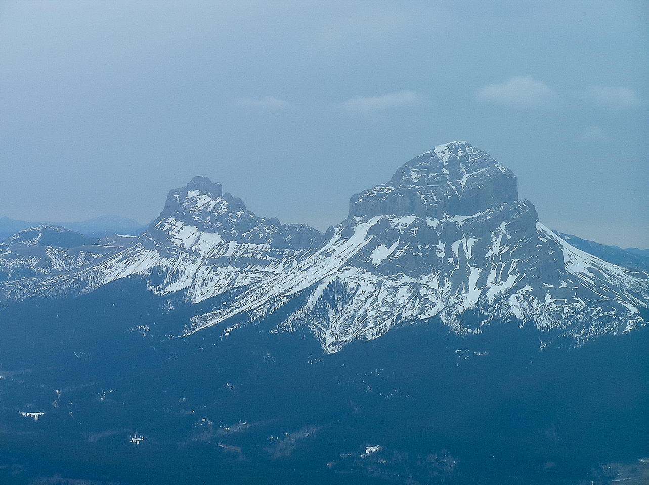 Crowsnest Mountain from the summit of Sentry Mountain.