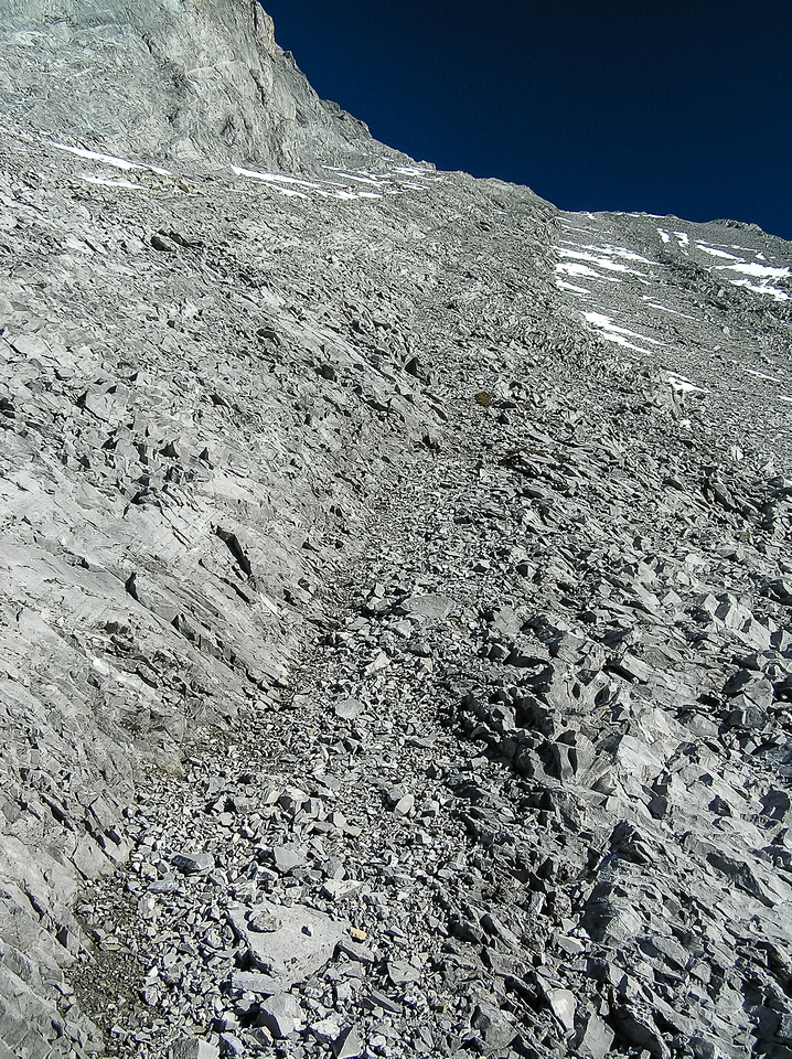 This photo is really all you need to know about Gusty Peak. An endless scree slog... :)