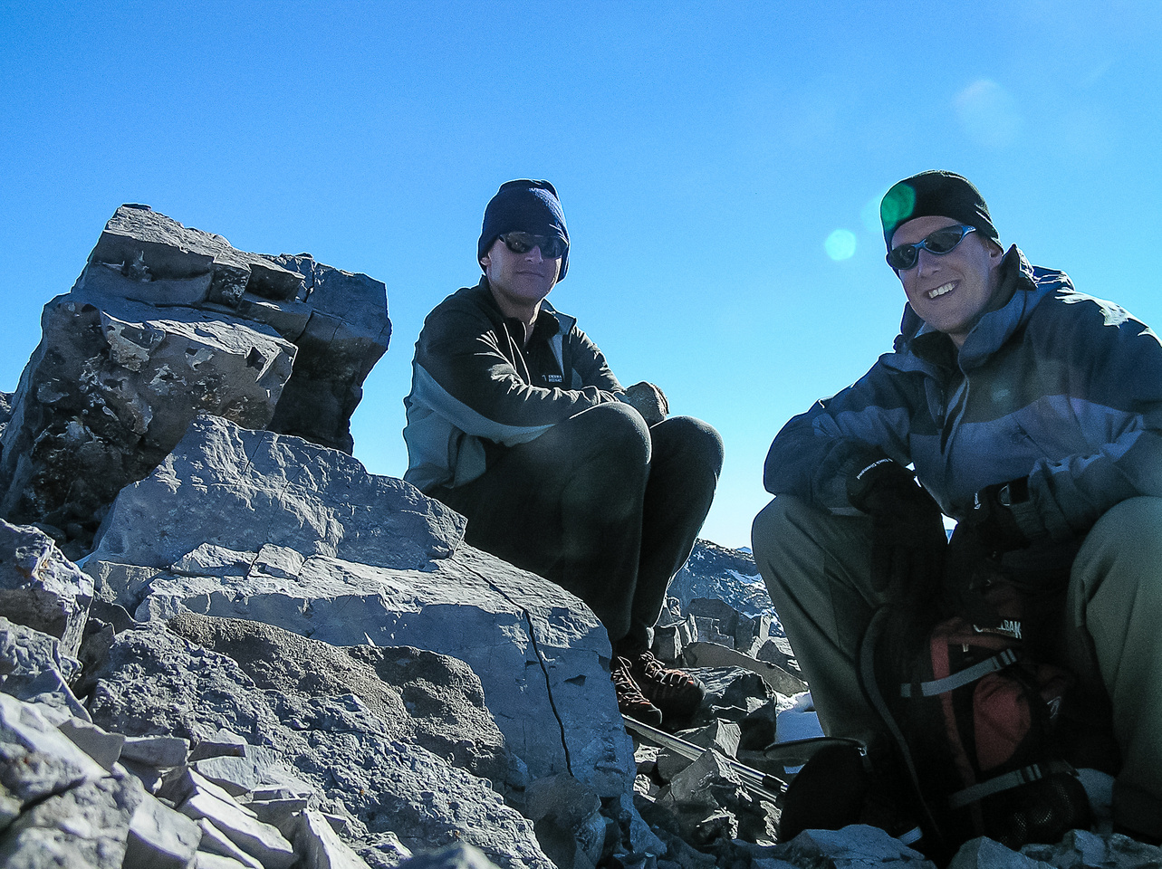 Dave and Vern on the summit of Gusty Peak.
