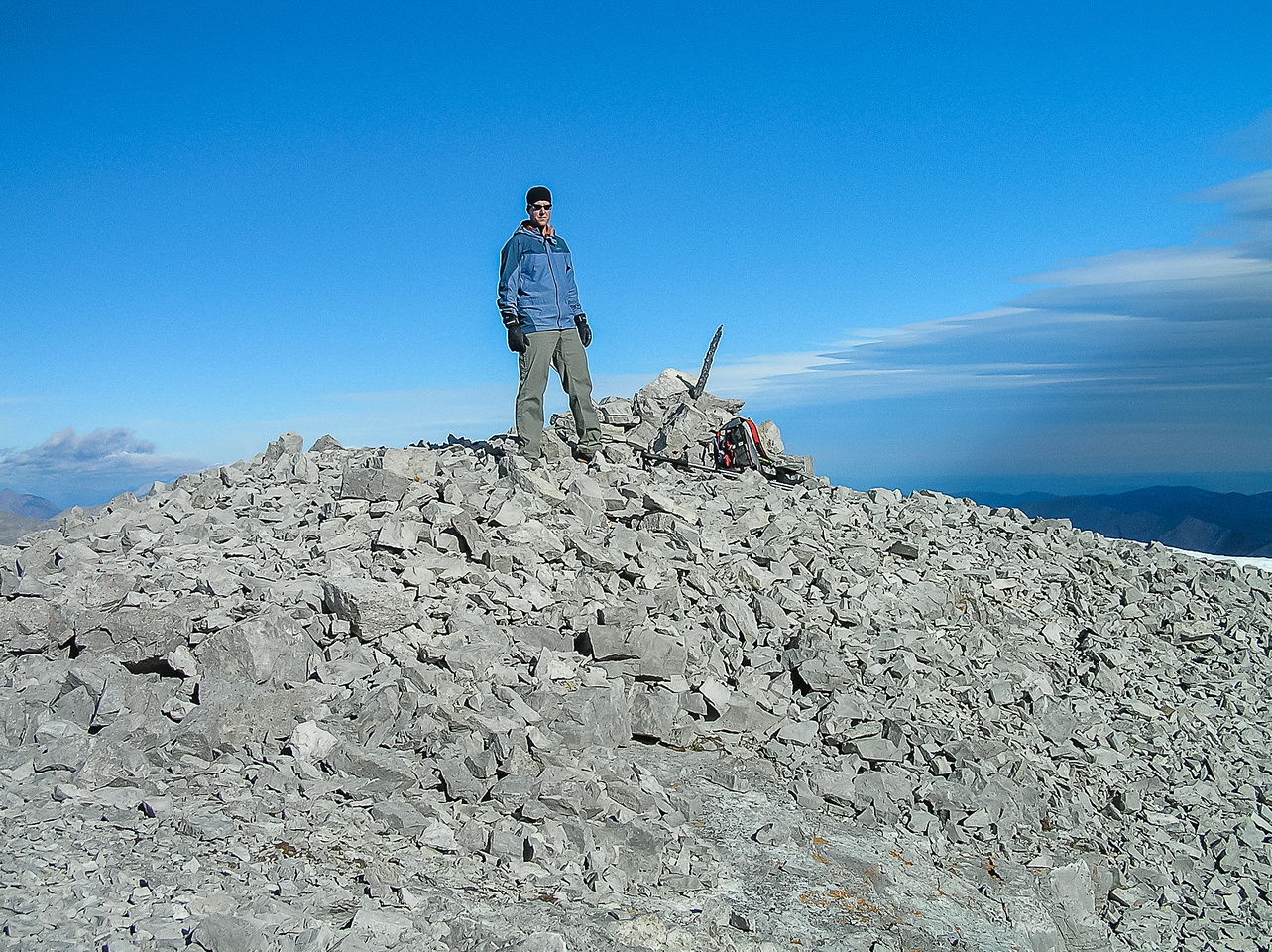 Vern at the summit of Mount Glasgow.