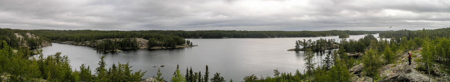 Panorama of Crystal Lake.
