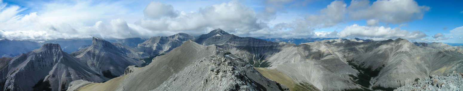 Remus (L), Romulus, Black Ridge, Fisher Peak and Mount Howard (R).