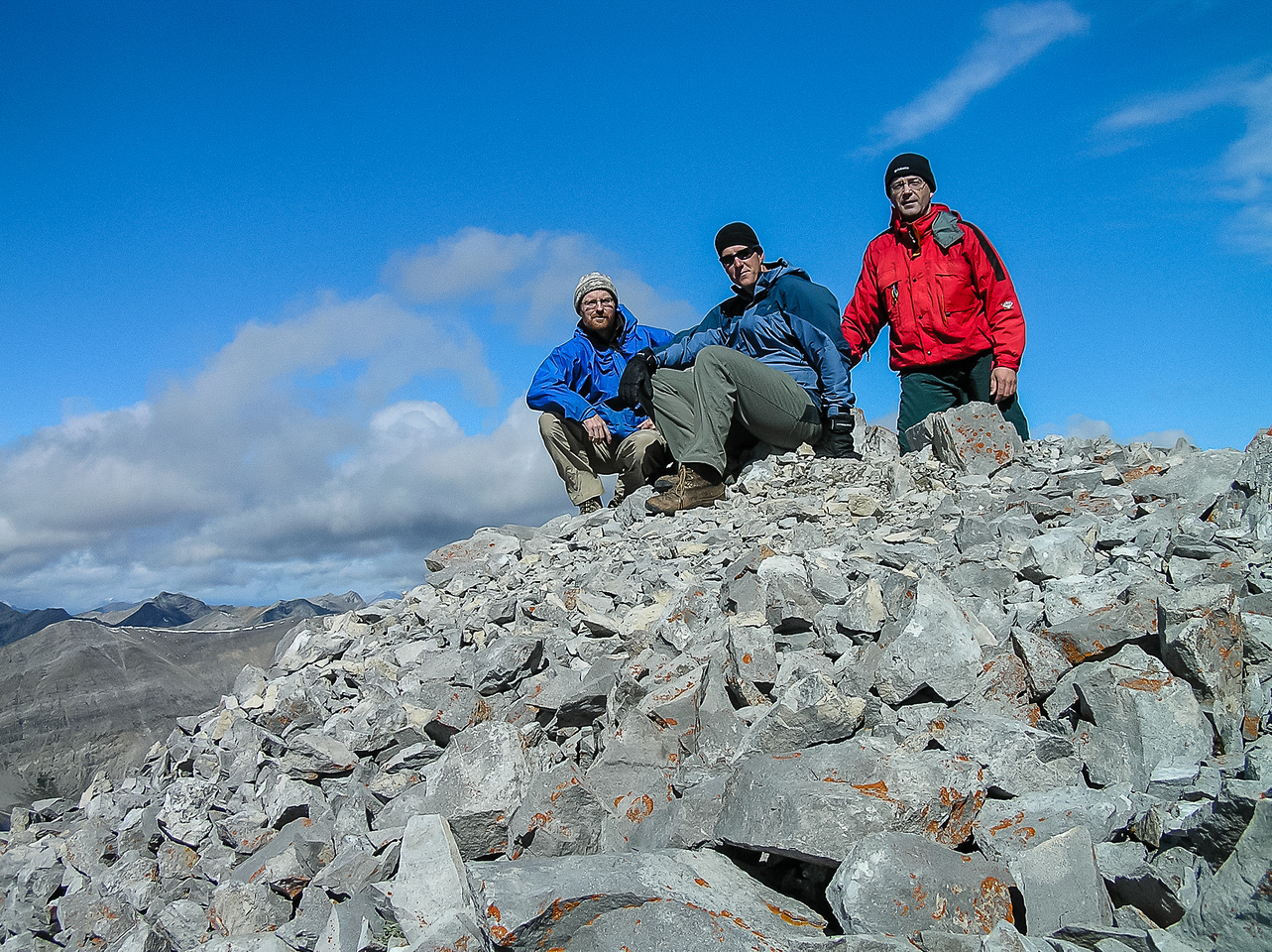 Ed, Vern and Dave on the summit of Mount Fullerton.