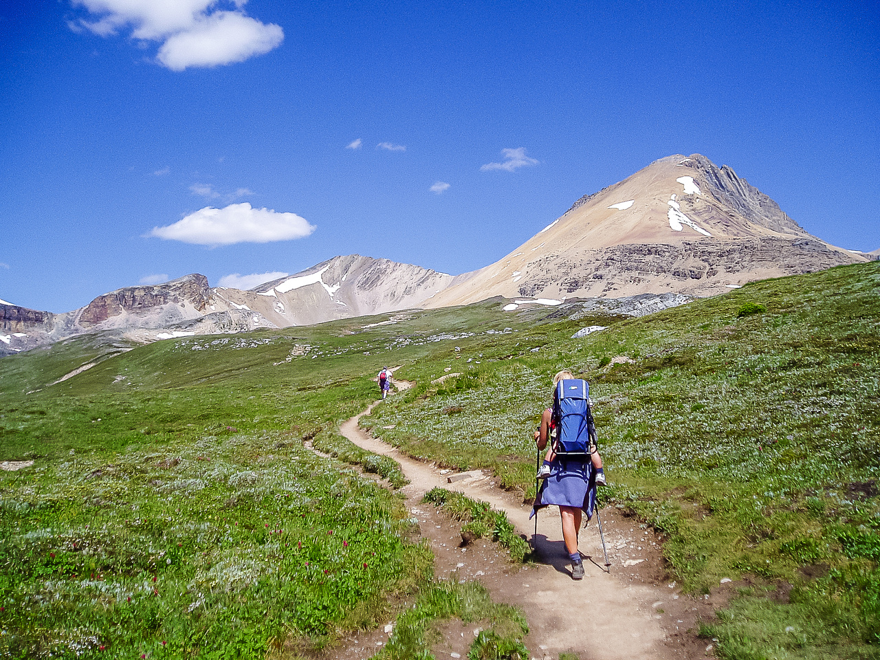 Hiking the lovely alpine meadows.