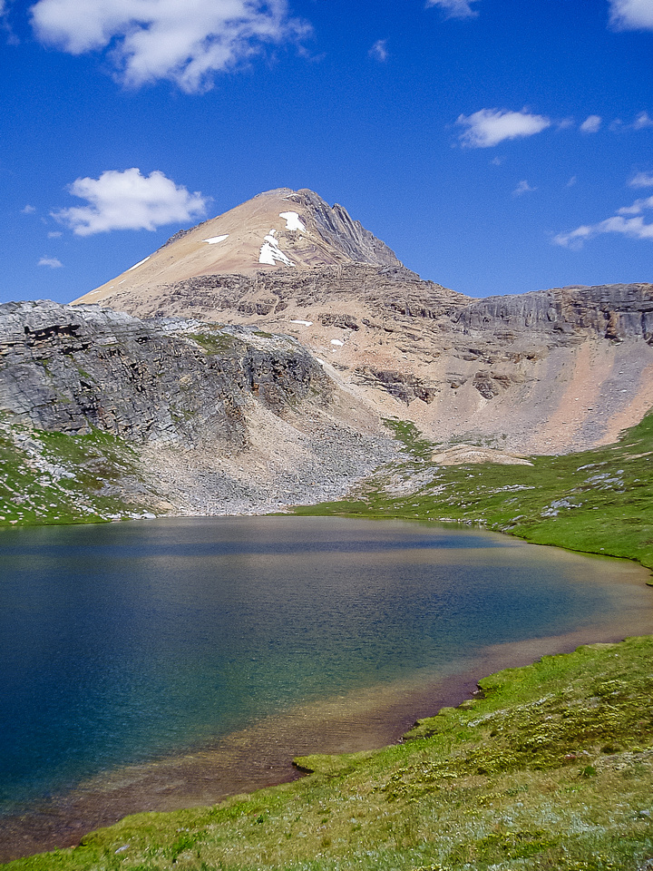 Helen Lake with Cirque Peak rising beyond.