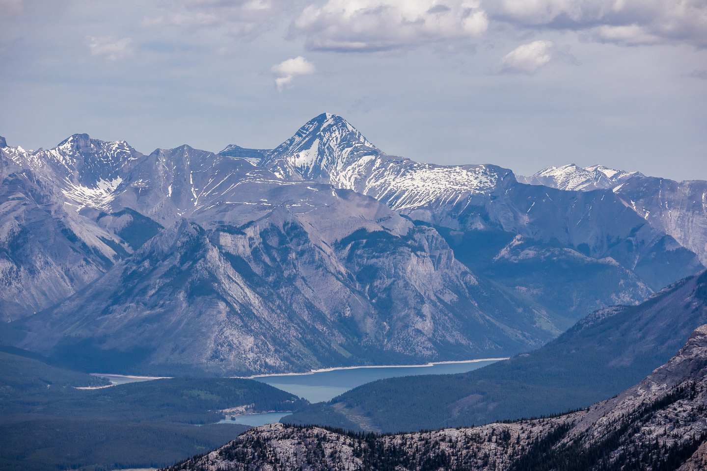 Mount Aylmer and Lake Minnewanka.
