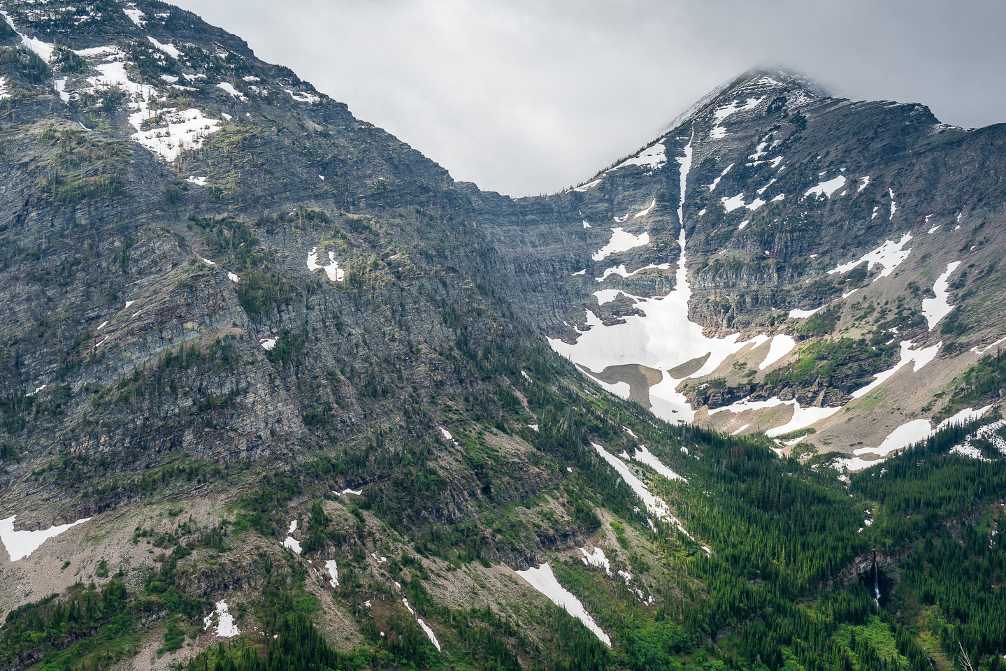 A waterfall coming off Middle Kootenay Mountain.