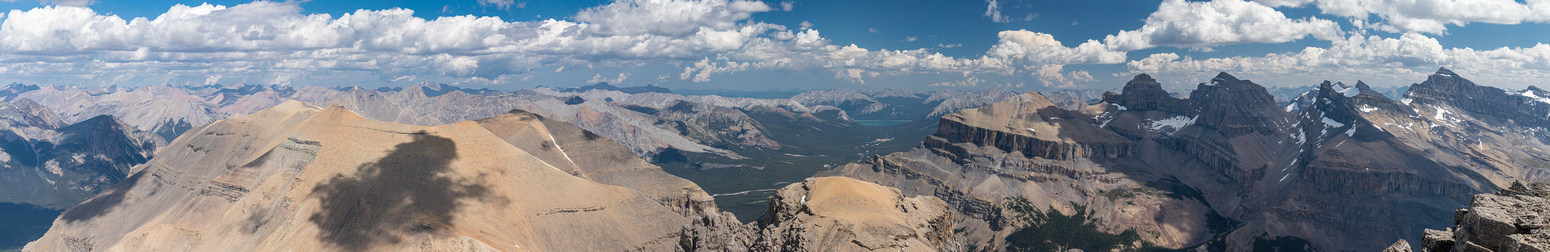 Panorama over the Cline River Valley and Waterfalls Creek Valley (R).