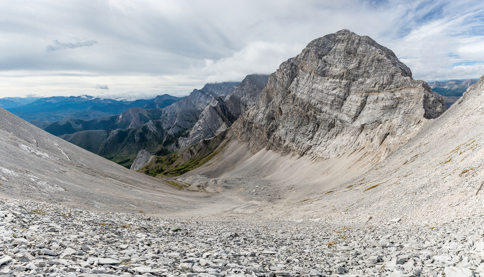 The upper east face of Mount Pengelly is impressive.