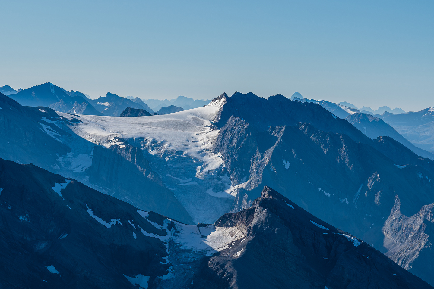 The Drummond Icefield with Cyclone and Pipestone and even Mount Assiniboine!