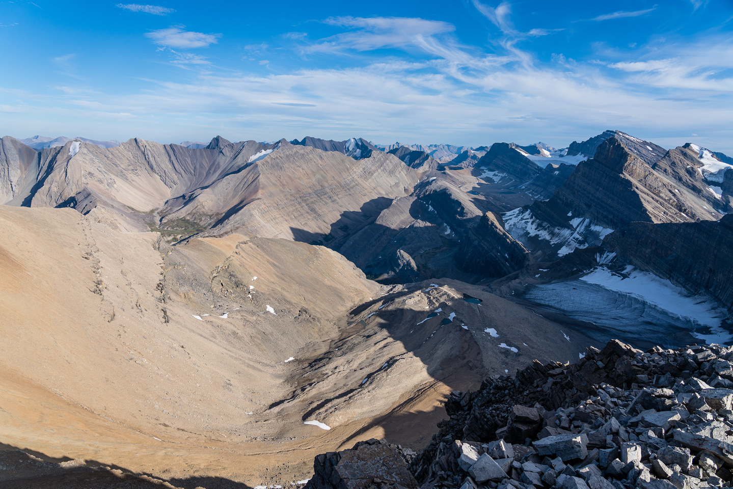 Snort, Bleat, McConnell, Drummond and Cataract in a wildly remote area of Banff National Park.