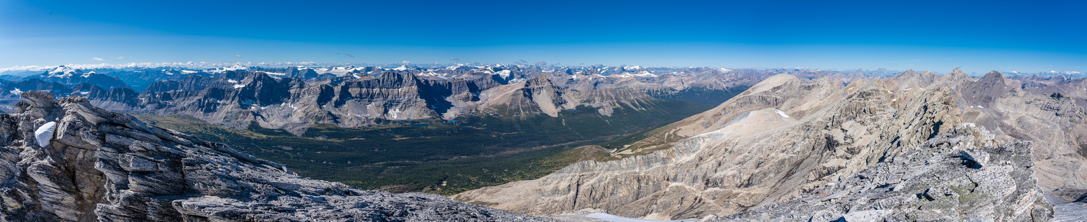 Views back over the Siffleur River Valley.