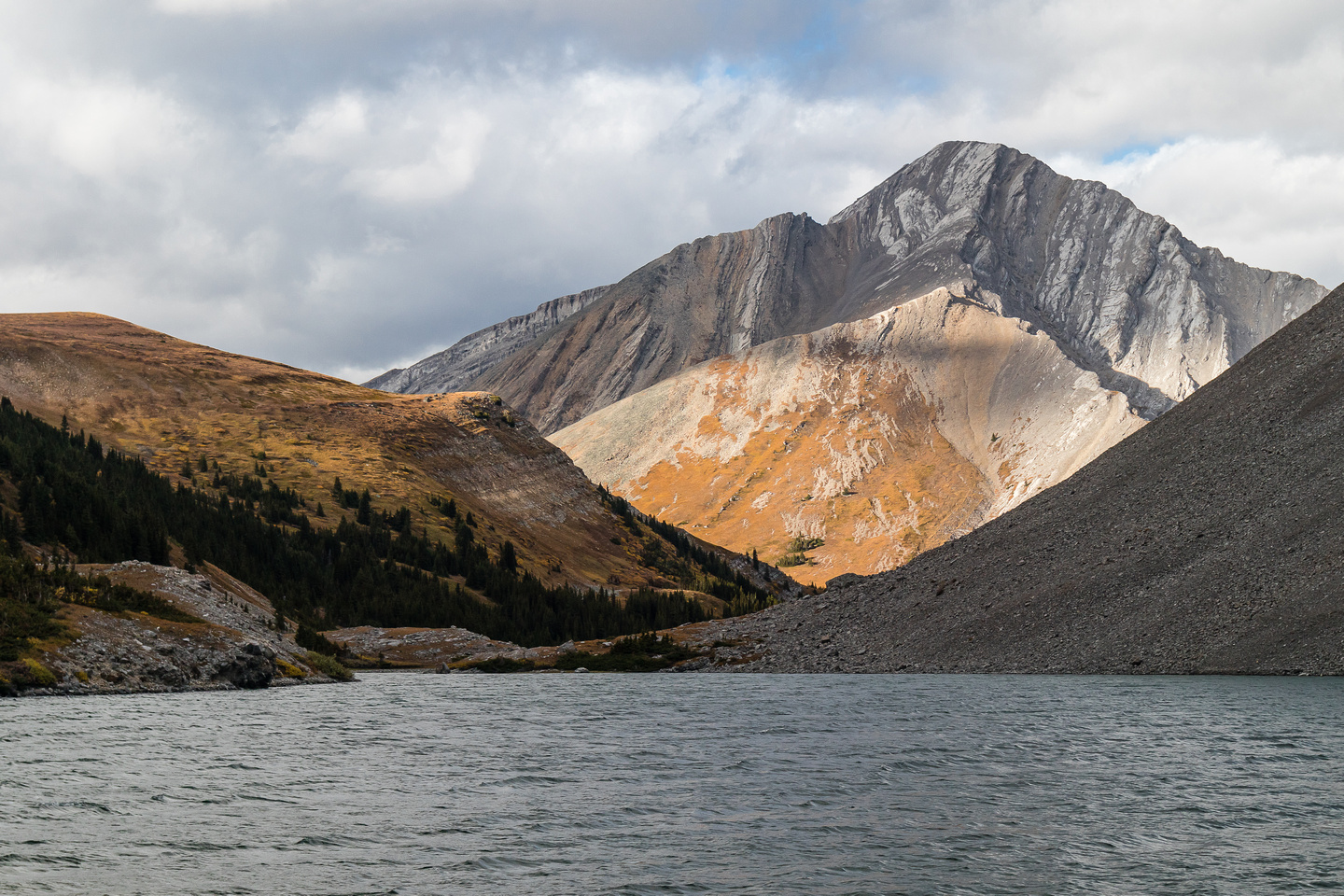 Carrot Peak looms over Stenton Lake.