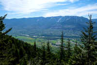 Views back over the Elk River Valley to Fernie Ridge.
