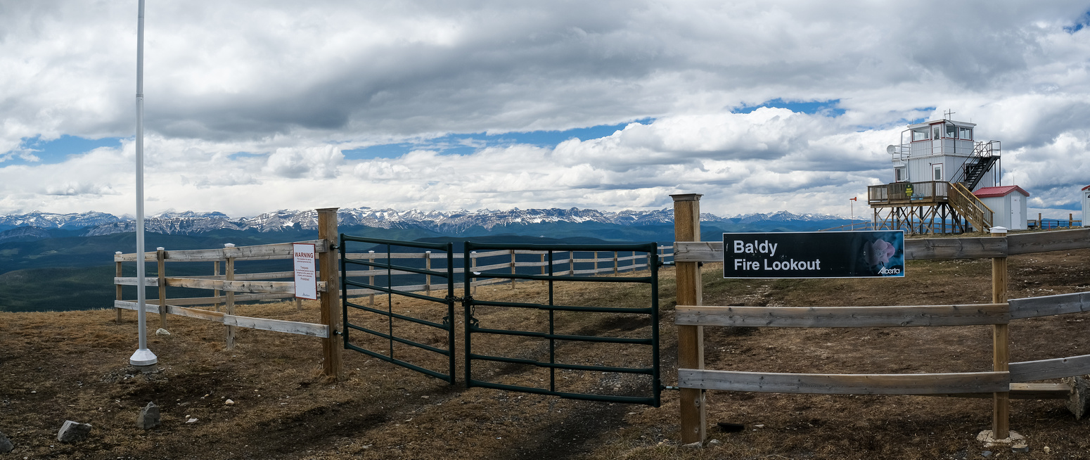 The Baldy Fire Lookout atop Shunda Mountain.